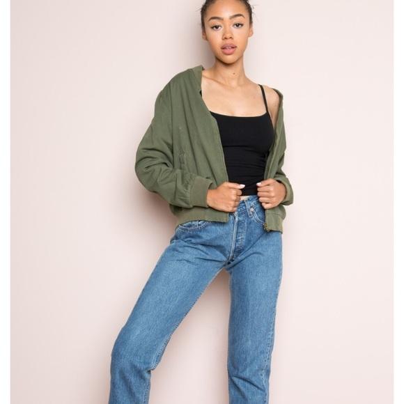 Brandy Melville Jackets Coats Dark Green Brandy Bomber Jacket
